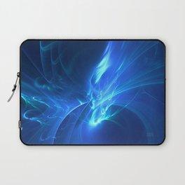 Electric Blue Fractal Laptop Sleeve