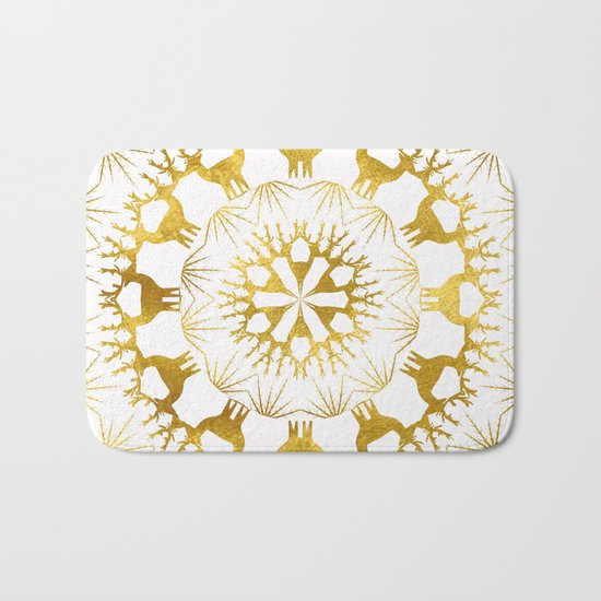 Gold Christmas 05 Bath Mat