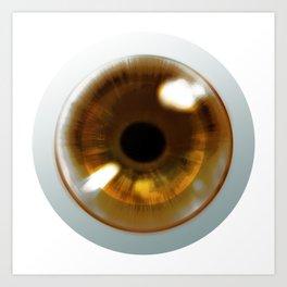 Brown Eye - Graphic Design Art Print