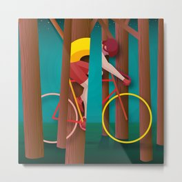 Life is strange, riding bicycle Metal Print