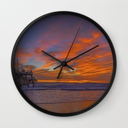 Red Clouds on the North Side Wall Clock
