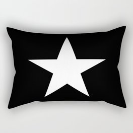 White star on black background Rectangular Pillow
