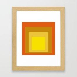 Block Colors - Yellow Gold Orange Framed Art Print