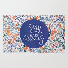Stay Curious – Navy & Coral Rug