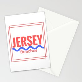 Jersey Beaches Graphic Stationery Cards