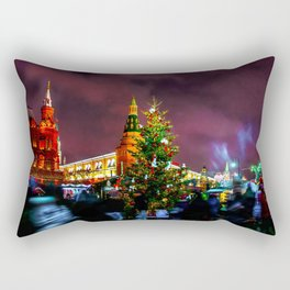 Christmas Fair On Manege Square Of Moscow City Rectangular Pillow