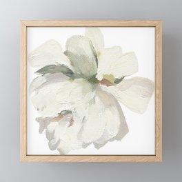 White Rose Framed Mini Art Print