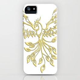 Golden Phoenix Rising iPhone Case
