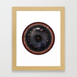 Observable universe logarithmic illustration Framed Art Print