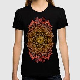 Fire Spirit Mandala Art T-shirt