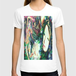 NUDE BELLY DANCER WITH LADY KASHMIR ART PRINT PHOTOGRAPHY PAINTING  T-shirt