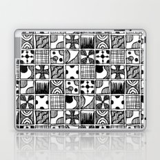 Black and White Abstract Squares Laptop & iPad Skin