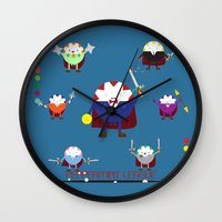 league Wall Clocks featuring Peppermint League by Carieo's Creation