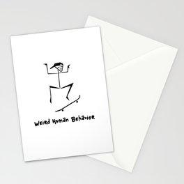 Weird Human Behavior - Skateboarding Stationery Cards