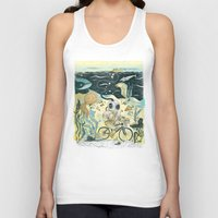cycling Tank Tops featuring Cycling in the Deep by Dushan Milic
