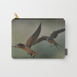 Barn swallows in flight Carry-All Pouch