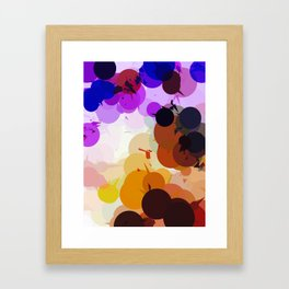 geometric circle and triangle pattern abstract in purple brown blue Framed Art Print