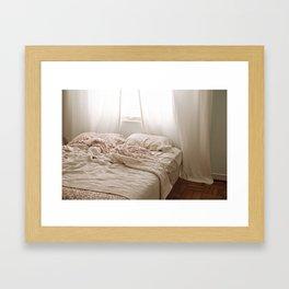 Messy Bed Framed Art Print