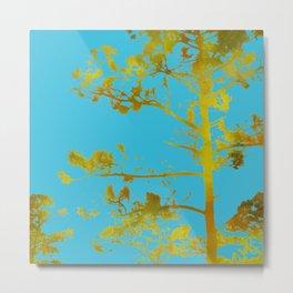 dreaming of japan: teal + gold Metal Print