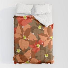 Poinsettia Love Comforters