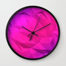 I Love Low Poly 2 Wall Clock