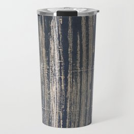 Gray blue striped Travel Mug