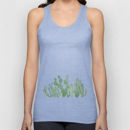 Green cactus garden Unisex Tank Top