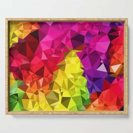 Rainbow Poly Low Serving Tray