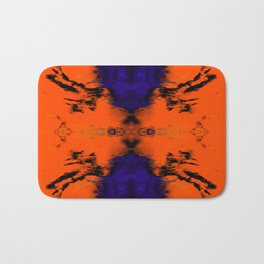 abstrackt blue/orange Bath Mat