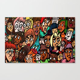 Faces of Women 2K15 Canvas Print