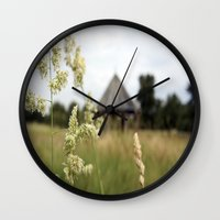farm Wall Clocks featuring Farm by ANArt