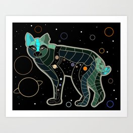Space Bobcat Art Print