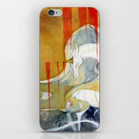 wasted rita iPhone & iPod Skins featuring Wasted Dream by Rubis Firenos