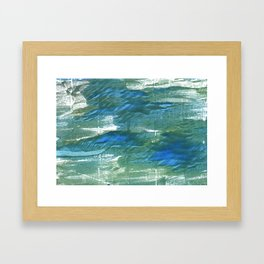Wintergreen Dream abstract watercolor Framed Art Print