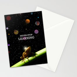 Never stop learning Stationery Cards