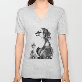 Tête-à-tête with Botticelli Unisex V-Neck