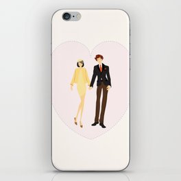 Together Forever - Couple Portrait, Engagement Gift,  Wedding Portrait, Anniversary Present iPhone Skin