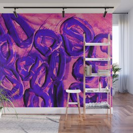 Neon Pink & Purple Rubber Bands Wall Mural