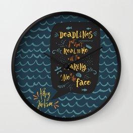 Deadlines. Percy Jackson Wall Clock
