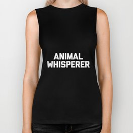animal whisperer cat t-shirt Biker Tank