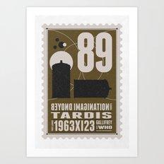 Bonus: Beyond imagination: TARDIS postage stamp Art Print