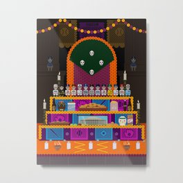 Day of the Dead Baseball Teams Metal Print