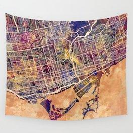 Toronto Canada Street Map Wall Tapestry