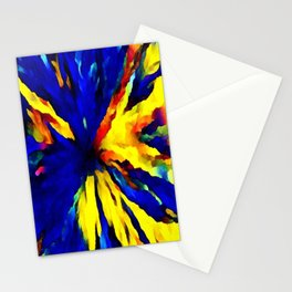 blue yellow Stationery Cards