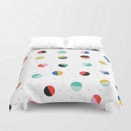 Color Block Dots Duvet Cover