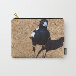 Black and White Magpie Bird Carry-All Pouch