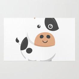 Adorable Cow & Cute Baby Calf Rug