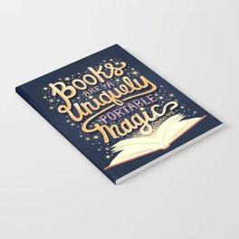 Books are magic Notebook