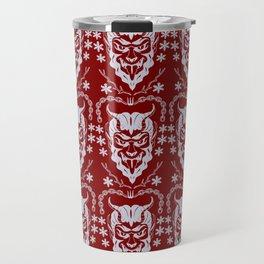 Krampus Red Travel Mug