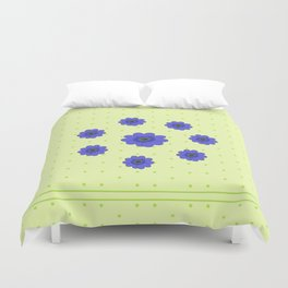 Flowers in Grass Duvet Cover